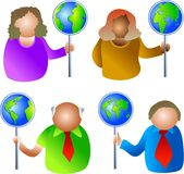 Global signs Royalty Free Stock Photos
