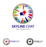 Global Skyline Chat Stock Photos