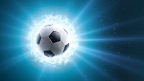 Global soccer energy. Background. Soccer ball Energy vector illustration