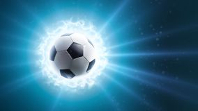 Global soccer energy. Background. Soccer ball Energy Stock Photos