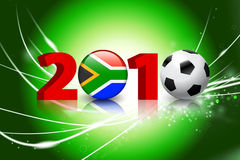 2010 Global Soccer Event on Abstract Light Background. 