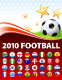 Global 2010 Soccer Event with Buttons Royalty Free Stock Photo
