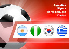 Global Soccer Event Group B Stock Image