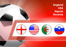Global Soccer Event Group C Royalty Free Stock Images