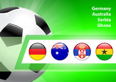 Global Soccer Event Group D Royalty Free Stock Photography