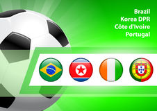 Global Soccer Event Group G Stock Photo