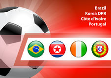 Global Soccer Event Group G Royalty Free Stock Photos