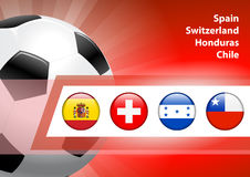 Global Soccer Event Group H Royalty Free Stock Images