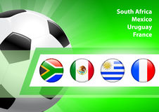 Global Soccer Event Group A Royalty Free Stock Photos
