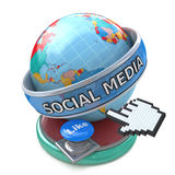 Global Social Media and Button Like. Conceptual Technology Royalty Free Stock Photo