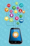Global social media mobility Royalty Free Stock Image