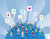 Global social media network Stock Image