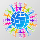 Global social media network Stock Photo