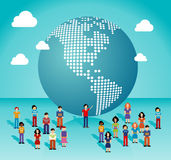 Global social media network in The Americas Stock Photos