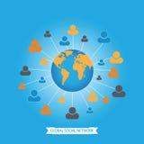 Global social media network. Royalty Free Stock Photos