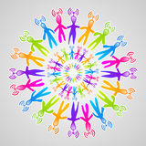 Global social media network mandala Stock Photography
