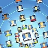 Global social network Stock Image