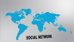 Global social network stock video footage