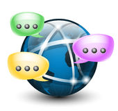 Global social network. Vector icon. On white background Stock Images