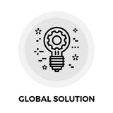 Global Solution Line Icon Stock Images
