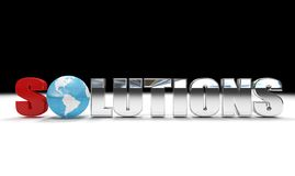 Global solutions. Concept of global solutions - digital artwork isolated Stock Photography