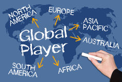 Global spelare royaltyfria foton
