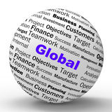 Global Sphere Definition Means International Royalty Free Stock Photos
