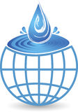 Global splash drop logo royalty free illustration