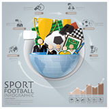 Global Sport Football Tournament Infographic With Round Circle D Royalty Free Stock Photos