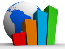 Global statistic Royalty Free Stock Photos