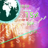 Global stock market on abstract background Stock Image