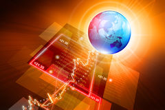 Global Stock market graph Stock Photography