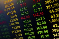 Global stock market ideas Numbers will tell you to sign the financial statement. royalty free stock photo