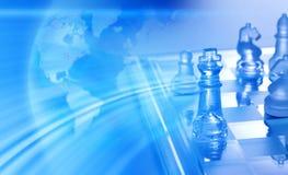 global strategi för affärsschack Arkivbilder