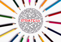 Global strategy concept Stock Photography