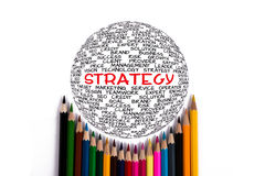 Global strategy concept Stock Image
