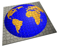 Global strategy jigsaw puzzle Royalty Free Stock Photos
