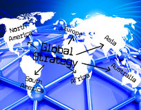 Global Strategy Means Globalization Globe And Solutions Royalty Free Stock Photo