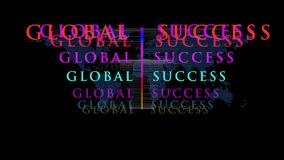Global success  concept motion graphics stock footage