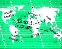 Global Success Means Victors Globalise And Resolution Royalty Free Stock Photos