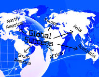 Global Success Shows Victory Globalise And Globalize Royalty Free Stock Image