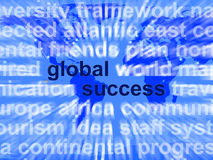 Global Success Words Showing Globalization And Business Growth W Stock Photos