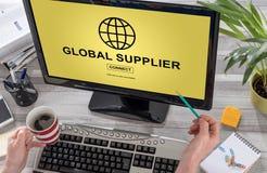 Global supplier concept on a computer. Screen Stock Photos