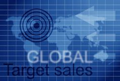 Global target sales Royalty Free Stock Photography
