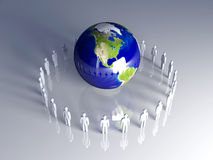 Global Team - Americas Royalty Free Stock Image