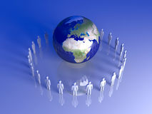Global Team - Europe, Africa Royalty Free Stock Image