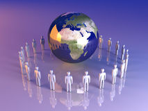 Global Team - Europe, Africa Royalty Free Stock Photo
