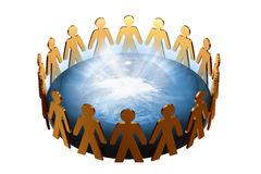 Global team power vector illustration