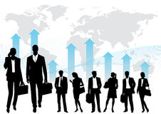 Global team -  silhouettes Stock Photography