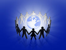 Global team work Royalty Free Stock Photography